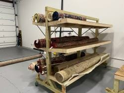 Cleaned oriental rugs ready for pickup or delivery